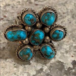Size 7 Tibetan Turquoise Ring